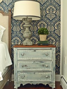 The decorating experts at HGTV.com share step-by-step instructions for giving plain nightstands a rustic, shabby chic makeover with milk paint and distressing techniques.
