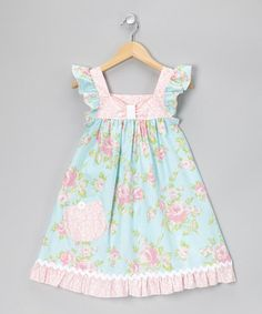 Take a look at this Pink Romantic Rose Flutter Dress - Infant, Toddler & Girls by Art & Soul Boutique by Bercot on #zulily today!