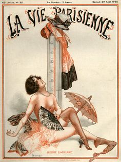 1925 France La Vie Parisienne Magazine Drawing