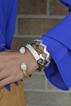 Snake and Sparkle Bangle Set