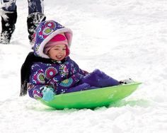 Molly McWilliams, 3, of #Wildwood holds on as tight as she picks up speed.
