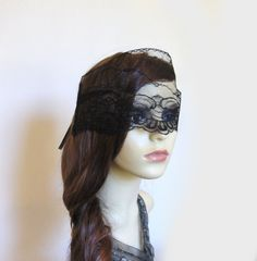 Black lace mourning veil. by talulahblue on Etsy, £18.00