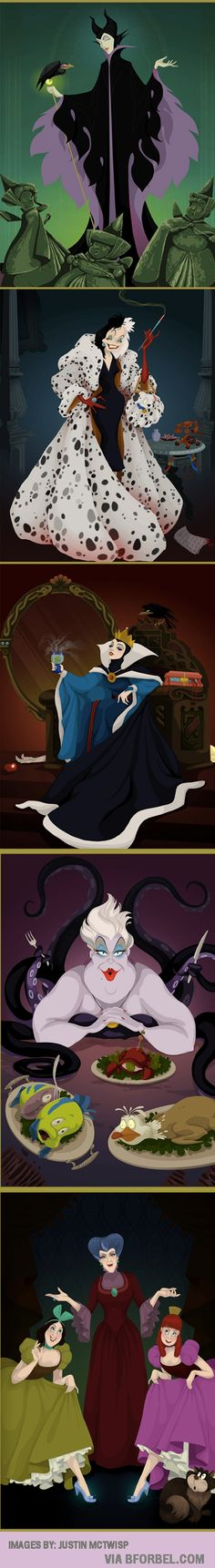 b for bel: If Disney Villains had Won... this is what would happen.