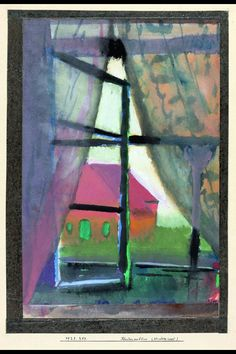 "Paul Klee - ""Window view (North Island)"", 1923 - Aquarelle and gouache on paper mounted on cardboard - 33 x 23 cm"