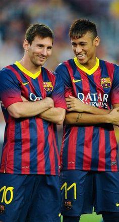 Leo Messi and Neymar