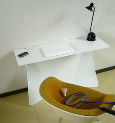 futuristic office desk concept with virtual computer  Computer