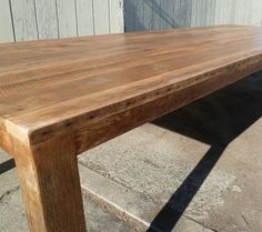 Outdoor table on pinterest wood dining tables reclaimed for Reclaimed wood flooring san francisco