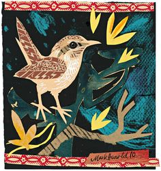 I adore Mark Hearld's wonderfully layered and textured collages: whimsical and wonderful!