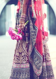 indian wedding outfit, bridal lehenga