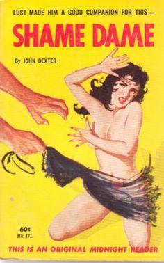 VINTAGE-60s-tearing-off-negligee-SLEAZE-shame-dame-JOHN-DEXTER-midnight-reader