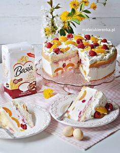 Pyszny Tort Jogurtowy z Malinami i Morelami - Przepis - Mała Cukierenka Baking Recipes, Cake Recipes, Dessert Recipes, Cheesecake, Vegan Meal Prep, Vegan Kitchen, Polish Recipes, Vegan Desserts, My Favorite Food