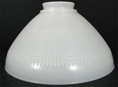 "Vtg Torchiere Shade Waffle Diffuser Corning Milk Glass White 10"" Lamp Light 