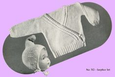 1940s Knitting PATTERN for Infants Knitted set a by BlondiesSpot