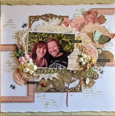 We have some awesome new inspiration sent in from Jo Simons this afternoon using the C'est La Vie collection, gorgeous! #couturecreations #josimons #cestlavie #scrapbooklayout #scrapbooking