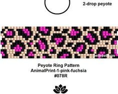 Peyote Beading Patterns, Peyote Stitch Patterns, Loom Beading, Fuchsia, Pink, Bead Loom Bracelets, Seed Bead Jewelry, Beaded Rings, Seed Beads