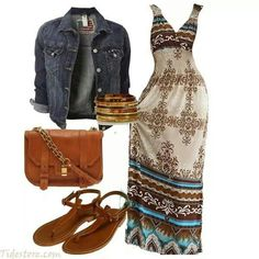 Maxi dress outfit...cute!