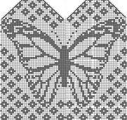 Bilderesultat for owl mitten pattern chart Filet Crochet, Crochet Chart, Crochet Granny, Butterfly Cross Stitch, Crochet Butterfly, Butterfly Pattern, Knitted Mittens Pattern, Knit Mittens, Knitted Gloves