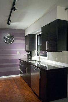 gnosjo cabinets - ikea.  Would do gray, not purple.