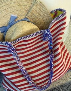 red white and blue ✿ beach bag Summer Of Love, Summer Fun, Summer Time, Summer Days, Spring Summer, Summer Breeze, Summer Blues, Summer Stripes, Happy Summer