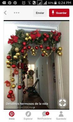 Christmas Arch, Gold Christmas, Rustic Christmas, Simple Christmas, Christmas Holidays, Christmas Wreaths, Christmas Ornaments, Crochet Christmas, Primitive Christmas