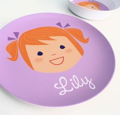 The kids ... Kitchen ir hallway ...Personalized Children's Plate   Girl or Boy by olliegraphic, $24.00