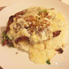 Deep Fried Pepper-Salted Pork Cutlets with Rice in Silky Egg Sauce 滑蛋椒鹽排骨飯 – What Are We Having Tonight? Salt Pork, Pork Cutlets, Casual Dinner, Menu Items, Risotto, Cravings, Dinner Recipes, Rice, Eggs