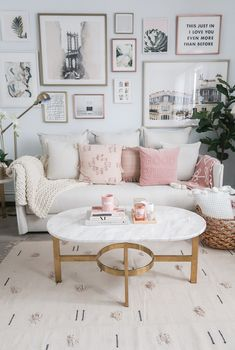 Cozy Neutral and Blush Living Room Money Can Buy Lipstick Living Room, Living Room, Neutral and Blush Living Room, Cozy Living Room, Urban Outfitters Home Blush Living Room, Cozy Living Rooms, New Living Room, Living Room Interior, Living Room Decor, Bedroom Decor, Living Room Gallery Wall, Apartment Living Rooms, Pink Living Room Furniture