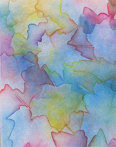colorful leaves - watercolor by Ann Mroczenski