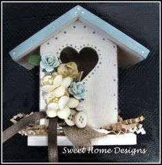 Decorative Birdhouse with Floral Trim and by SweetHomeDesigns, $5.99
