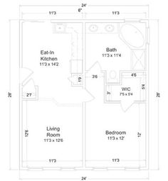 400 sq ft apartment floor plan google search 400 sq ft for Modular mother in law suite