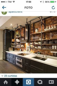 Attractive analyzed kitchen redesign Claim your birthday coupon Barn Kitchen, Loft Kitchen, Kitchen Layout, Diy Kitchen, Kitchen Decor, Black Kitchens, Home Kitchens, Industrial Kitchen Design, Beautiful Kitchen Designs