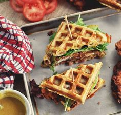 Sandwich-ize your fried chicken n' waffles