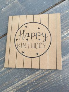 HANDLETTERING - verjaardagskaart - happy birthday