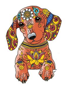 "Explore our internet site for more details on ""dachshund puppies"". It is an exceptional spot to get more information. Dachshund Tattoo, Dachshund Art, Dachshund Puppies, Daschund, Frida Art, Weenie Dogs, Doggies, Dog Paintings, Dog Art"