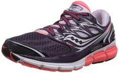 Saucony Women's Hurricane ISO Road Running Shoe, Purple/Coral/Lavendar, 9 M US