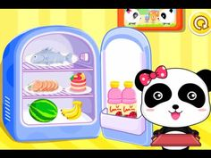 Baby Panda Play & Learn New Words - Animated Stickers - Home Appliances ...