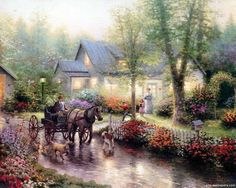 thomas kinkade painting | Thomas Kinkade Art Prints Buy a Poster