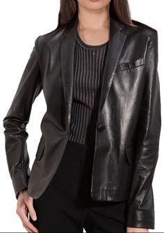 #Arlene #Womens #Leather #Blazer - #maritimeleather