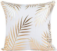 SET of Modern Gold Pillow Covers with gold Palm leaves and treat yo self decor . : SET of Modern Gold Pillow Covers with gold Palm leaves and treat yo self decor / Home decor / Golde Rose Gold Room Decor, Rose Gold Rooms, Decorative Throw Pillows, Soft Pillows, Gold Throw Pillows, Golden Pillow, Home Decor Sets, Gold Foil Print, Foil Prints