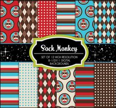 Sock Monkey Paper Pack