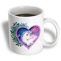 Floral Heart Unicorn mug.