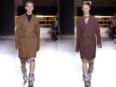Rick Owens, Spring Summer 2015 Ready To Wear, Paris Menswear Fashion Week (Paris) These coats are amazing, must have!!!!!