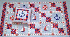 Купить Лоскутное одеяло Морское приключение - лоскутное шитье, лоскутное одеяло, лоскутное покрывало
