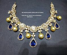 Jewellery Designs: Single Uncut Diamond Polki Choker