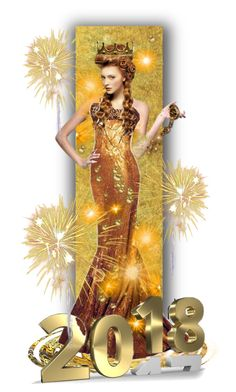 Golden Goddess, 2018 by fowlerteetee on Polyvore featuring art