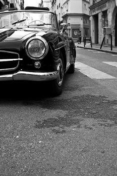Mercedes 190SL in Paris by PierrickBlons, via Flickr