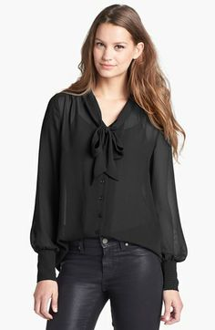Halogen® Bow Blouse (Regular & Petite) available at #Nordstrom