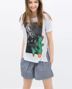 ZARA - SALE - FRUITS AND GIRL T-SHIRT