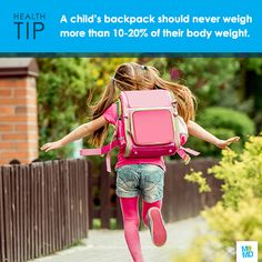 #TipTuesday Pack light. Backpacks should be organized to use all compartments. Pack heavier items closest to the center of the back. Most importantly, the pack should never weigh more than 10 to 20 percent of your child's body weight. #backtoschool