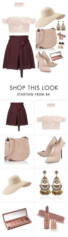 """""""Casual"""" by desert-bell ❤ liked on Polyvore featuring Miss Selfridge, Deux Lux, Casadei, Eric Javits and Urban Decay"""